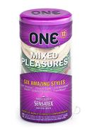 One Mixed Pleasures Condoms 6 Styles 12 Each Per Container